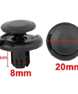Druknagels 20mm x 8mm Bevestigingsclips